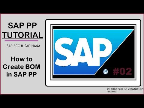 How To Create BOM In Sap Pp: (chapter 2)