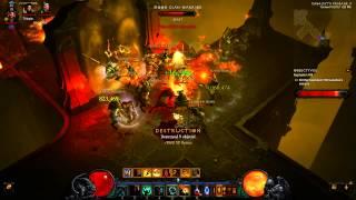 Diablo 3 RoS: Torment 6 solo rift run by fire HotA barb (non Soh)