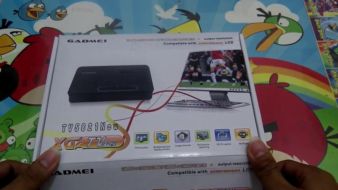 Cuma Pake Monitor Bisa Nonton Tv Tv Tuner Gadmei 5821n Youtube