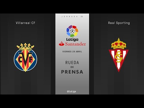 Rueda de prensa Villarreal vs Sporting