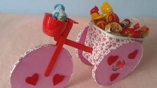 Bicicleta Triciclo Feita Com CD! Lembrancinha Dia das Mães!