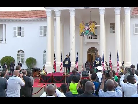 President Obama Joins President Kenyatta of Kenya in a Joint Press Conference