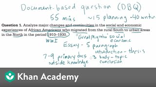 AP US history DBQ example 1 | The historian's toolkit | US History | Khan Academy