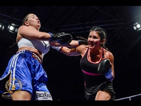 Full Fight  Mia St John vs Lisa Lewis Pro Debut  Royal Rampage  Charity Fight