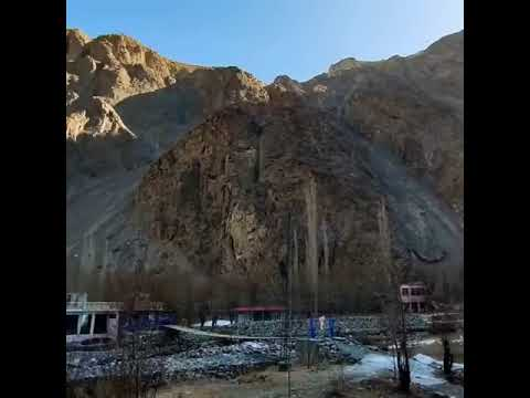Manthokha waterfall in winter season skardu Gilgit Baltistan Pakistan our #short
