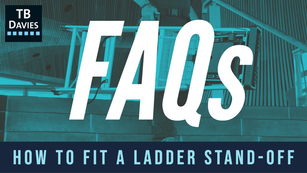 How To Fit A Ladder Standoff Accessory Youtube