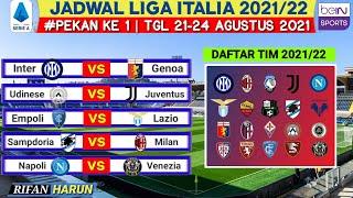 Jadwal Liga Italia 2021 2022 Pekan Pertama Udinese vs Juventus Live Bein Serie A Matchday 1