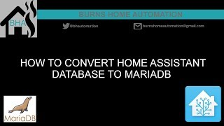 How to convert Home Assistant database to MariaDB