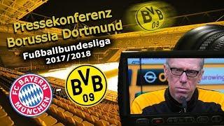 FC Bayern München - Borussia Dortmund: Pk mit Peter Stöger