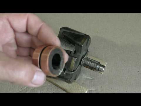 видео: Как заменить контактные кольца на роторе генератора старого образца.