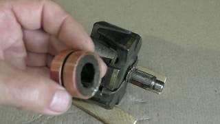 Как заменить контактные кольца на роторе генератора старого образца.