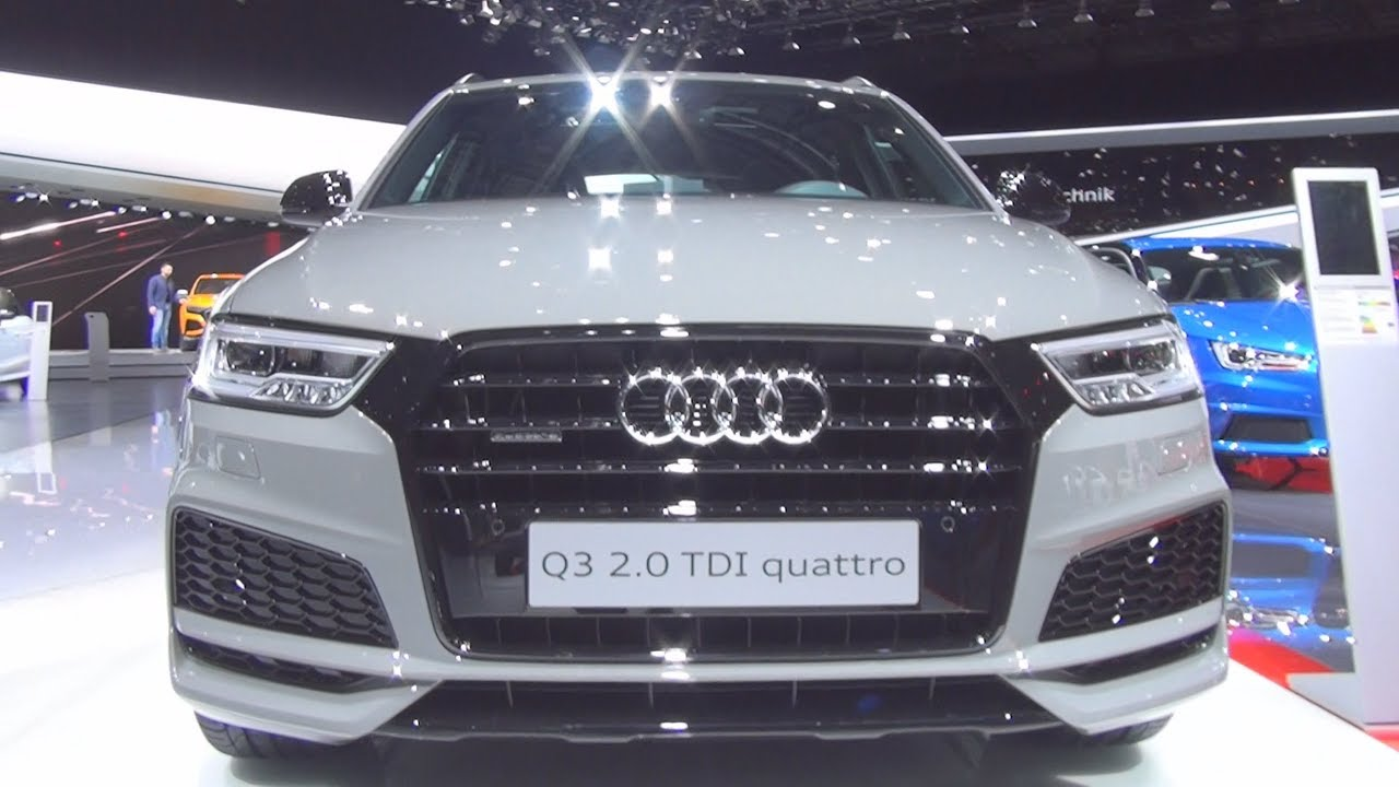 audi q3 sport s line competition 2 0 tdi quattro s tronic 150 hp 2017 exterior and interior in. Black Bedroom Furniture Sets. Home Design Ideas