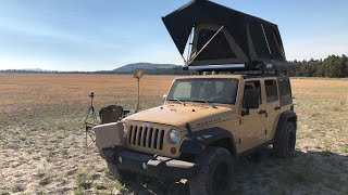 Jeep Overland Car Camping - Artifacts, Arrowheads, and bad Camp Cooking