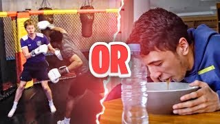 WOULD YOU RATHER IN REAL LIFE - FIGHT VS PRO BOXER OR MYSTERY MEAL
