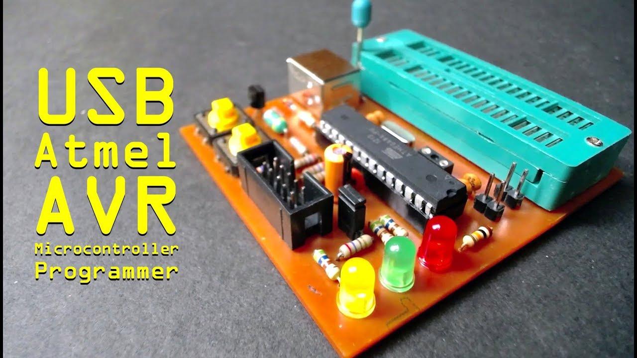 usb atmel avr microcontroller programmer youtube