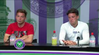 Gordon Reid and Alfie Hewett final press conference