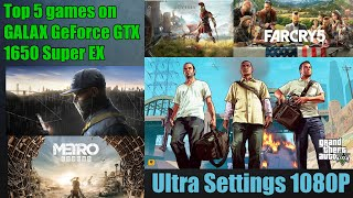 Top 5 Games Tested on GTX 1650 Super with Intel Core i5 9400F || Ultra Settings 1080P