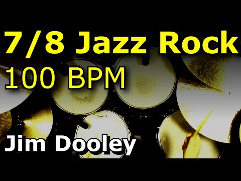 Drums Only Backing Track - 7/8 Jazz Rock 100 BPM