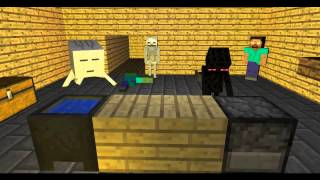 Minecraft Animation: Monster School! Learning to Cook!
