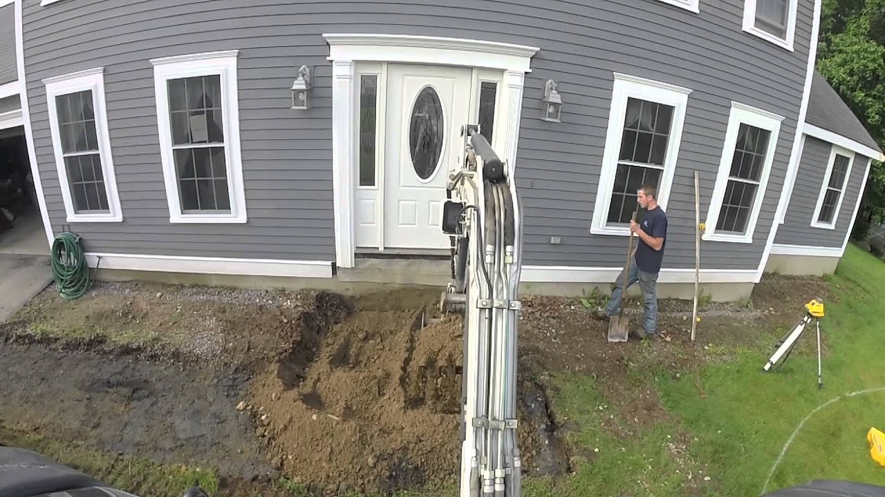 Bobcat 430 mini excavator digging foundation youtube for Digging foundation for house