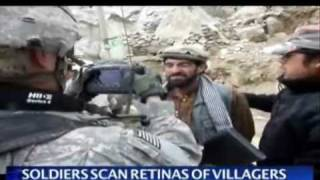 US troops scanning retinas in Afghan province