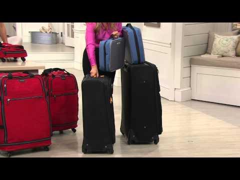 "Ships 3/9 Biaggi Zip Sak 27"" Foldable Luggage with Sandra Bennett"