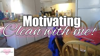 Actual messy house clean with me / Speed cleaning motivation 2019