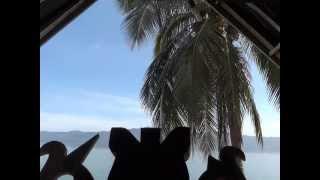 Vue depuis ma maison Batak, lac Toba