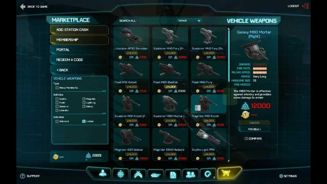 planetside 2 shop