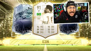 THE BEST ICON SWAP PACKS!! PELE PACKED!! FIFA 21
