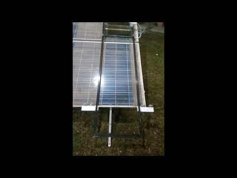 Robot to Clean Solar Panels without Water