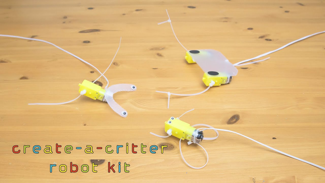 create-a-critter robot kit introduction movie