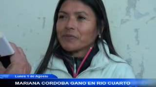 MARIANA CORDOBA GANO EN RIO CUARTO