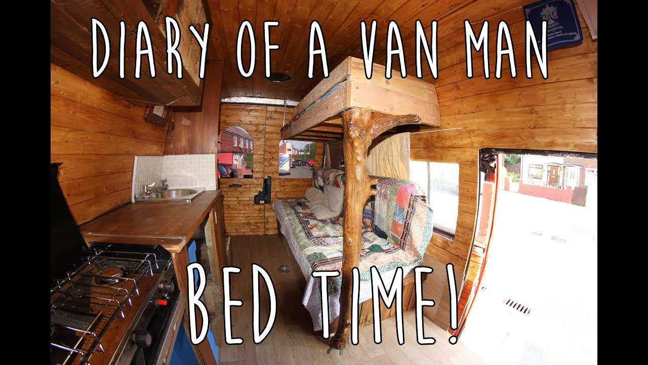 Sprinter Van Bunk Beds >> Van life : Diary of a van man 9 - Bed time! Campervan conversion - YouTube