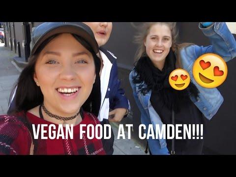 EATING VEGAN FOOD AT THE CAMDEN MARKETS!!!
