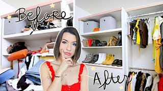Deep Cleaning/Decluttering My Messy Closet