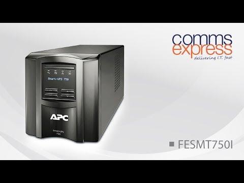 APC Smart-UPS 750VA Tower with LCD Display, 230V - YouTube