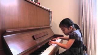小学1年 ピアノ歴3年 自由曲 ツバメのコンダクター 入選.