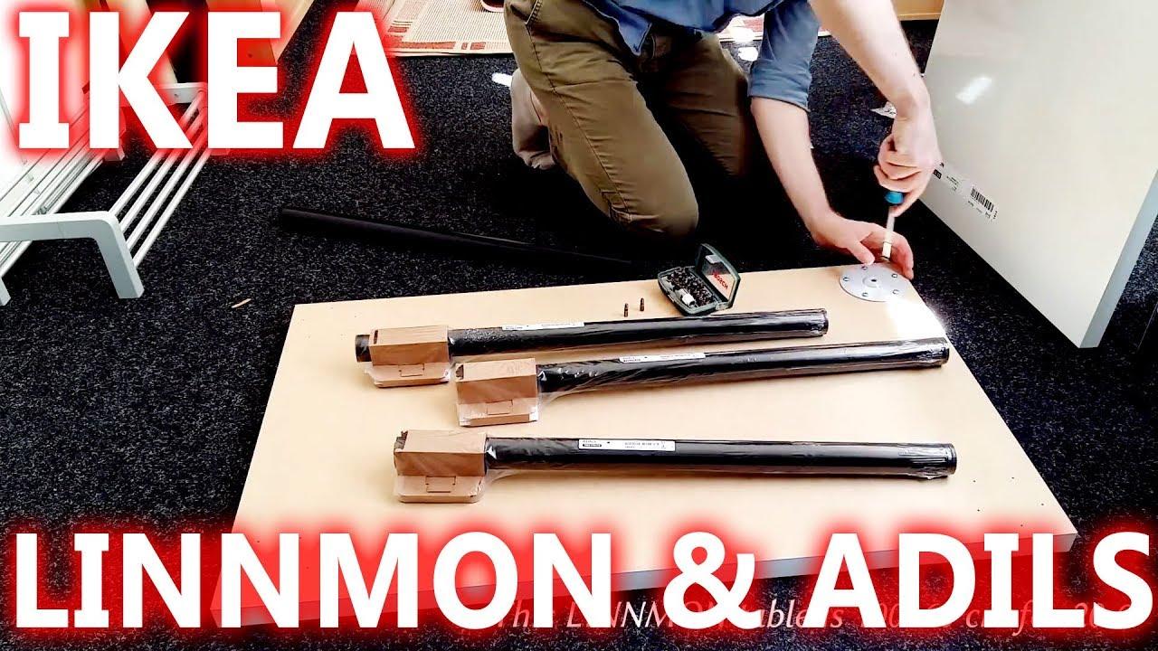 IKEA LINNMON ADILS X Conference Table Setup Review YouTube - Conference table setup