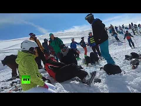 Resort horror: Ski lift spins out of control, forcing people to jump to safety (GRAPHIC)