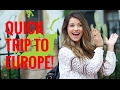 QUICK TRIP TO EUROPE WITH TAYTUM AND OAKLEY! VLOG