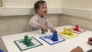 Развивающие игры. Саша, 2 года, синдром Дауна