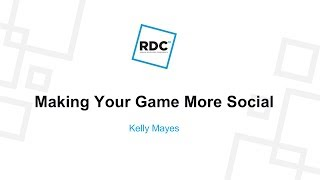 Roblox Developer Conference 2018 - Machen Sie Ihr Spiel sozialer
