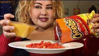 Hot Cheetos with Nacho Cheese/ MUKBANG