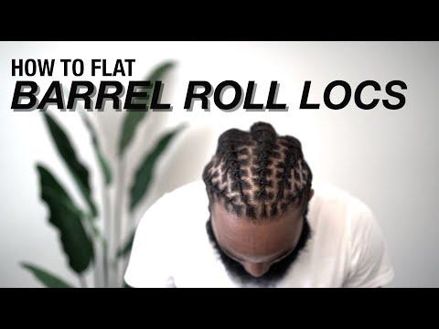 How To Flat Barrel Twist Locs