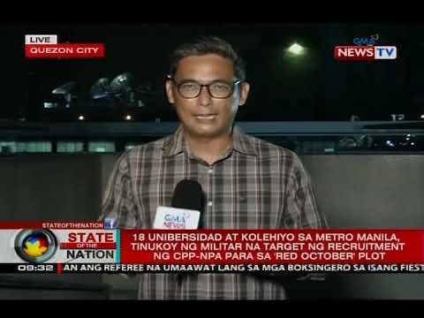 18 unibersidad at kolehiyo sa Manila, na target ng recruitment ng CPP-NPA para sa 'Red October'