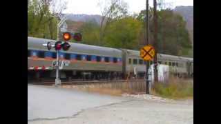 Amtrak New River Train at Meadow Creek WV - Westbound