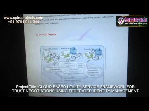 Cloud-based Utility Service Framework for Trust Negotiations using Federated Identity Management
