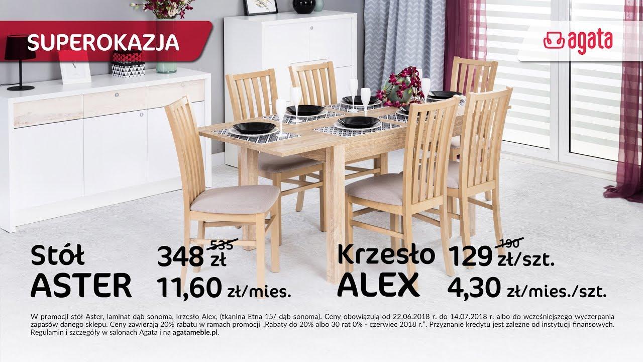 Stół Aster I Krzesło Alex