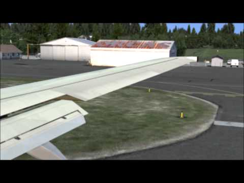 FSX Flight Simulator X HD   SAS 737 600 Orcas Island KORS Take Off